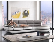 Contemporary European Style Eco-Leather Sectional Sofa 44L6068