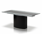 Contemporary Extendable Glass Dining Table 44D1688