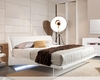 Contemporary Floating Bed w/ Lights 44B142BD