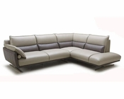 Contemporary Full Leather Sectional Sofa 44L5997