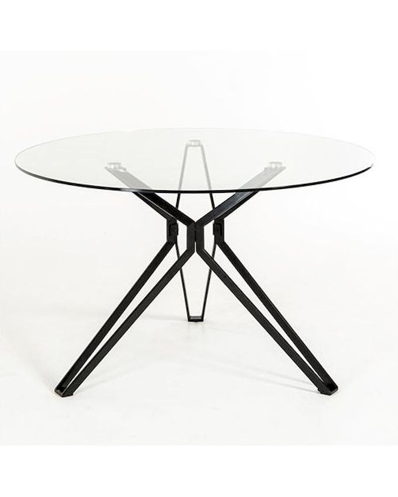 Contemporary glass round dining table 44d6105dt 1 for Glass top dining table next