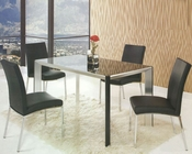 Contemporary Glass Top Dining Set OL-10