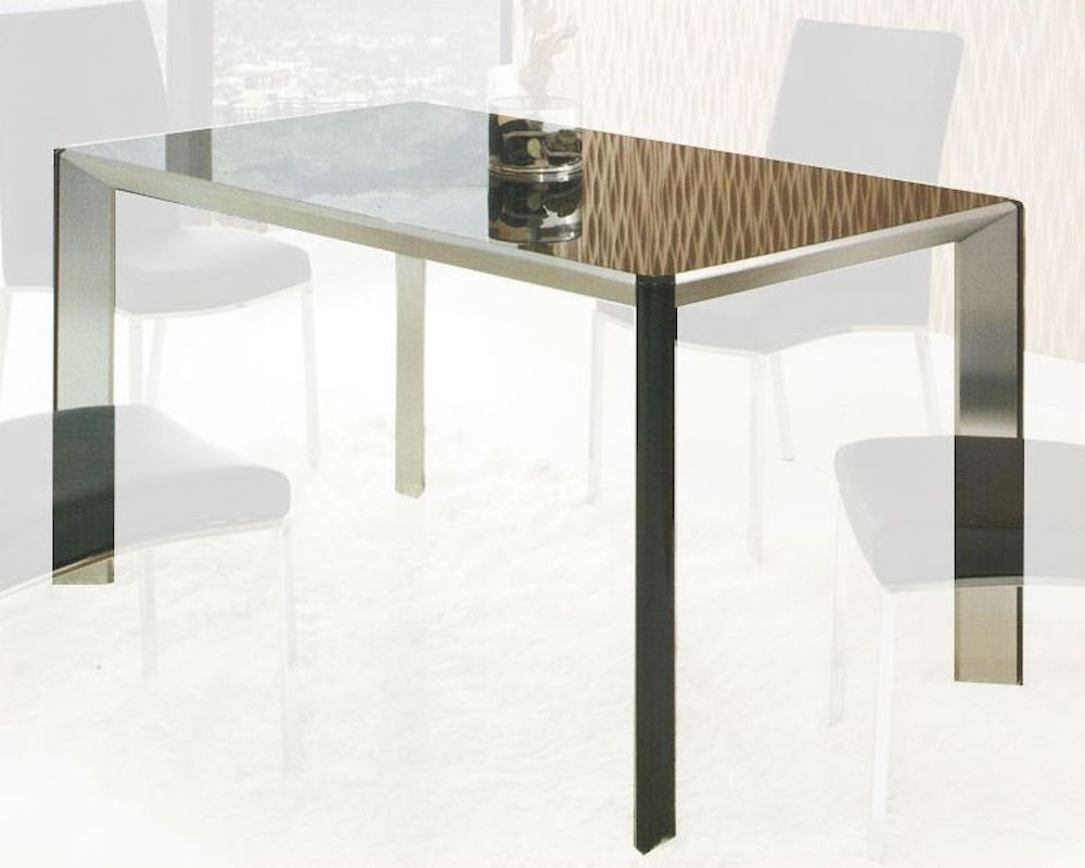 Contemporary glass top dining table ol dt26 for Glass top dining table next
