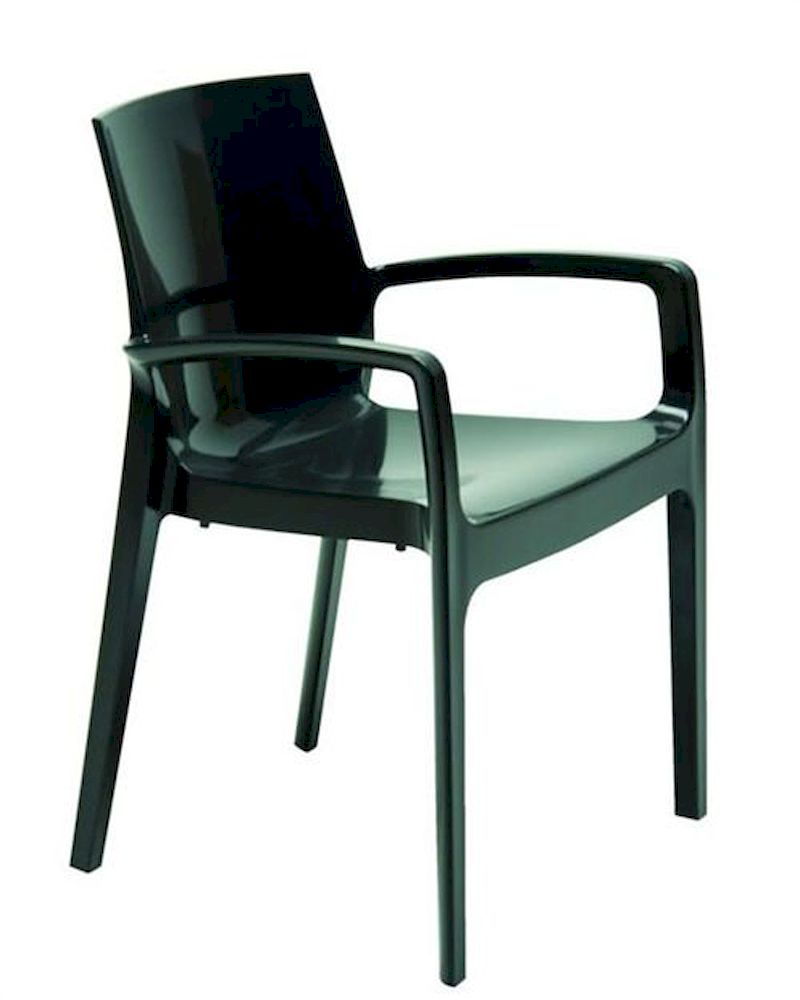 Contemporary gloss italian dining chair 44dcream ch for Italian dining chairs modern