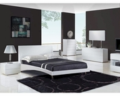 Contemporary Glossy Bedroom Set 44B171SET