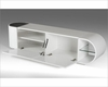 Contemporary Glossy TV Stand in White Finish 44ENT098