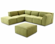 Contemporary Green Fabric Sectional Sofa 44L6073