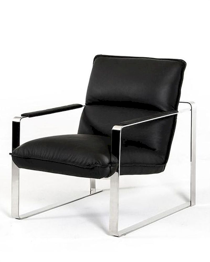 Contemporary leather lounge chair 44lg791 for Modern leather club chair