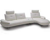 Contemporary Leather Sectional Sofa Set 44L1373
