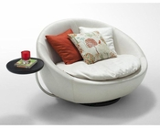 Contemporary Leather Swivel Round Lounge Chair 44O5668