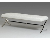 Contemporary Leatherette Bench 44D1101