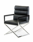 Contemporary Leatherette Chair 44D8108VG-BLK