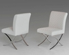 Contemporary Leatherette Dining Chair 44D829 (Set of 2)