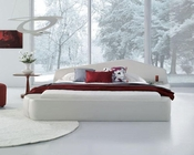 Contemporary Leatherette Platform Bed 44B208BD