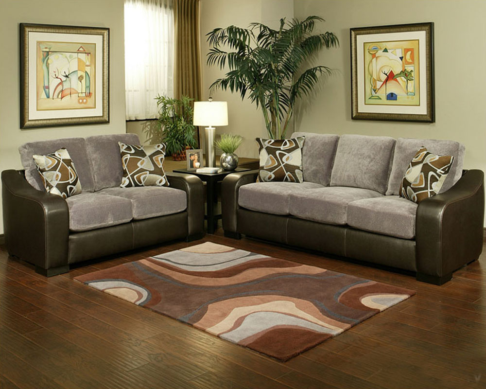 Contemporary living room set montana in gray finish bh 47ss201