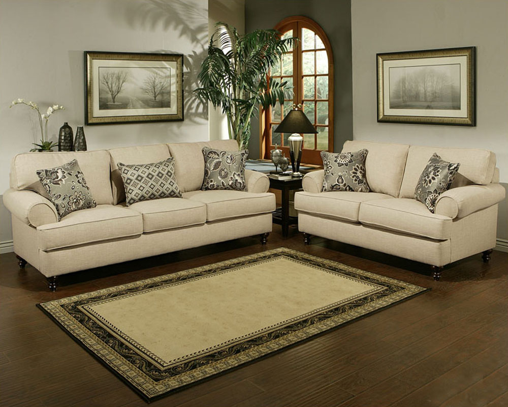 Contemporary Living Room Set Southerland In Toast Finish