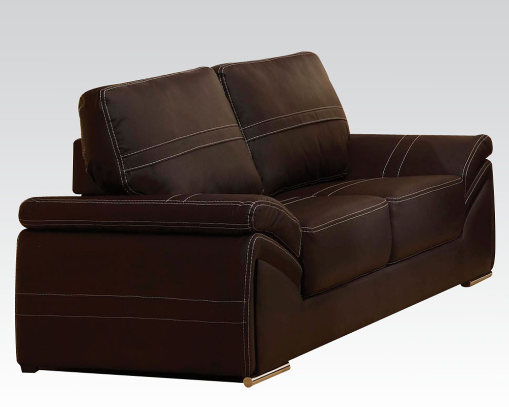 Contemporary Loveseat Ember Espresso By Acme Furniture Ac51696