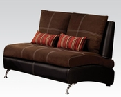 Contemporary Loveseat Jolie Chocolate by Acme Furniture AC51761