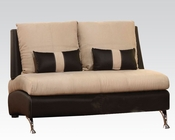 Contemporary Loveseat Jolie Sand by Acme Furniture AC51756