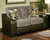 Contemporary Loveseat Montana in Gray Finish BH-47SS203