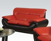 Contemporary Loveseat Orel Red by Acme Furniture AC50711