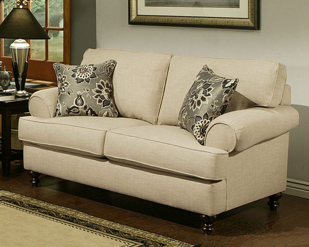 Contemporary Loveseat Southerland In Toast Finish Bh 47ss233