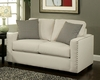 Contemporary Loveseat Trivia in Ivory Finish BH-47SS243