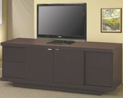 Contemporary Media Console with Drawers and Shelves CO700671