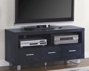 Contemporary Media Console with Shelves and Drawer CO700644