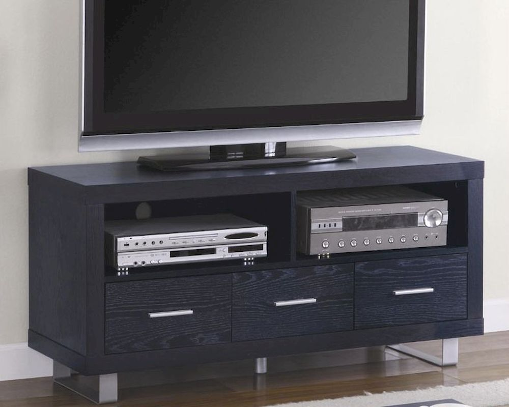 Contemporary media console with shelves and drawer co700644 Modern media console