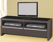 Contemporary Media Console with Shelves and Drawers CO700649