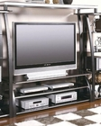 Contemporary Metal and Glass TV Console CO700681