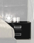 Contemporary Night Stand in Black Glossy Finish 33B123