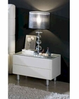 Contemporary Nightstand in White Finish 33B563