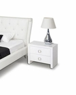 Contemporary Nightstand in White Finish 44B141NS