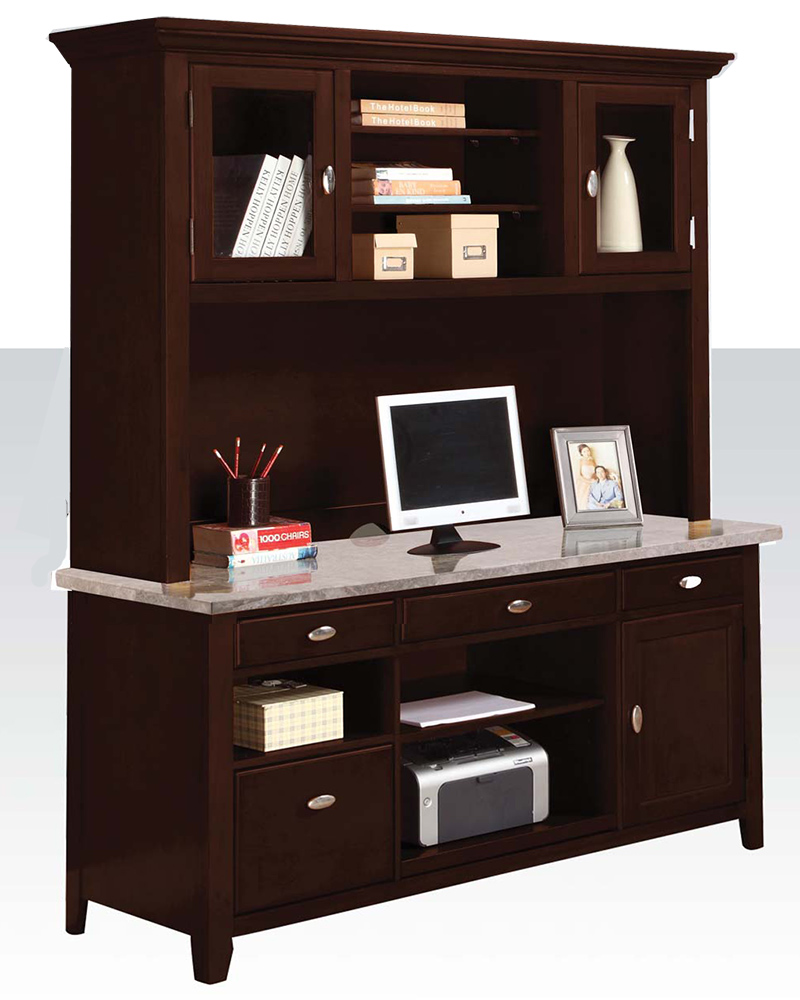 contemporary office desk w hutch by acme furniture ac92012dh