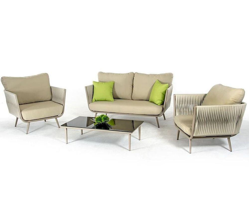contemporary outdoor acrylic fabric sofa set 44p210 set. Black Bedroom Furniture Sets. Home Design Ideas