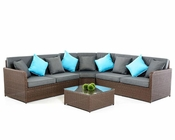 Contemporary Outdoor Sectional Set 44P389S-SET