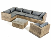 Contemporary Outdoor Sectional Sofa Set 44P460-SET