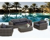Contemporary Outdoor Sofa Set 44P118-SET