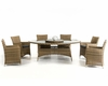 Contemporary Outdoor Wicker Dining Set 44P388-SET