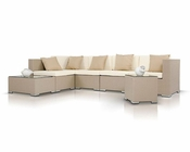 Contemporary Patio Sofa Set 44P011-SET