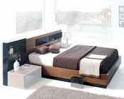 Contemporary Platform Bed Made in Spain 33B182
