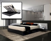 Contemporary Platform Bed w/ Storage 44B191BD