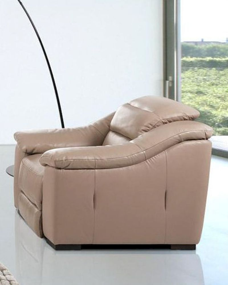 Contemporary power reclining leather lounge chair 44lg1736 for Contemporary leather lounge chairs