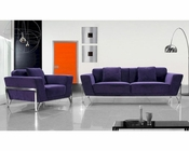 Contemporary Purple Fabric Sectional Sofa 44L0654