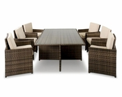 Contemporary Rectangular Compact Patio Set 44P106-SET