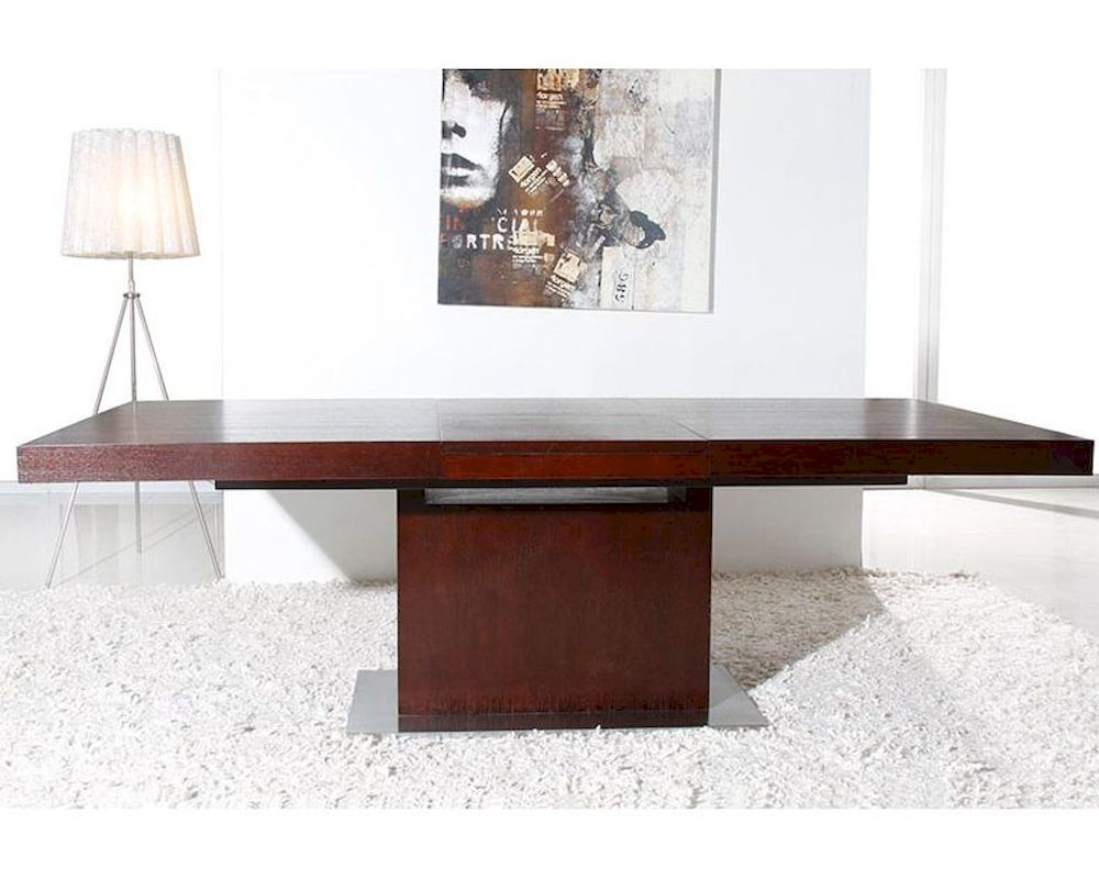 Contemporary Oak Dining Tables Extendable: Contemporary Red Oak Extendable Dining Table 44D841XTRO