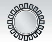 Contemporary Round Accent Mirror by Acme Furniture AC97058
