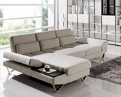 Contemporary Sectional Sofa Set in Fabric 44L6056